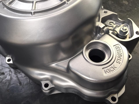 Yamaha SRX engine casings came in with corrosion and yellowed clear coat