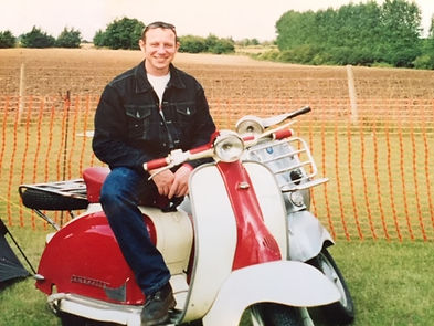 Fred on one of his Lambretta's