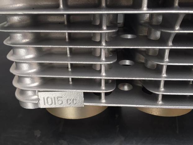 Kawasaki Z1000 engine aqua blasted