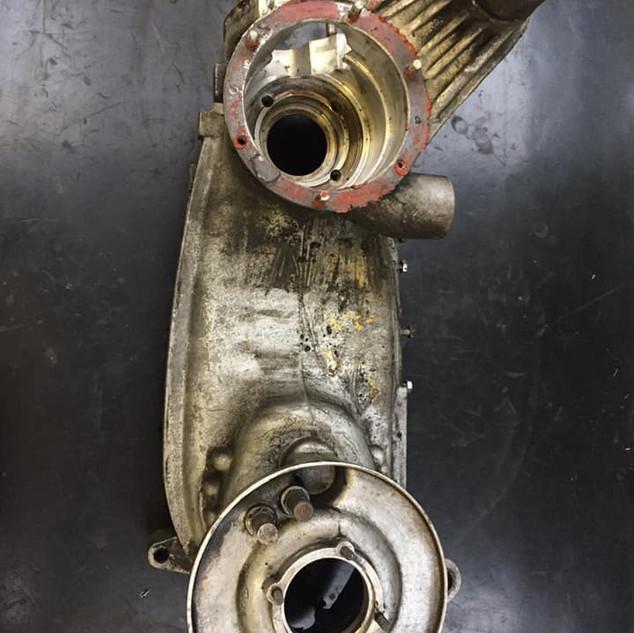 Dirty Lambretta engine needing blasting