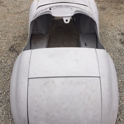1965 pedal car after blasting