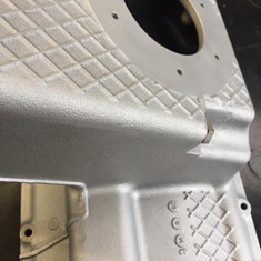 BMW M3 E36 engine parts aqua blasted