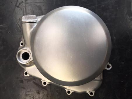 Honda CB500/4 engine side casings post vapour blasting