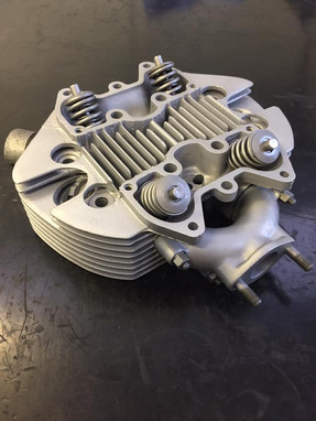 Triumph T100ss cylinder head after Vapour Blasting