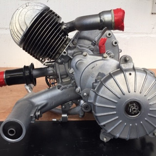 Vespa engine after Vapour Blast process