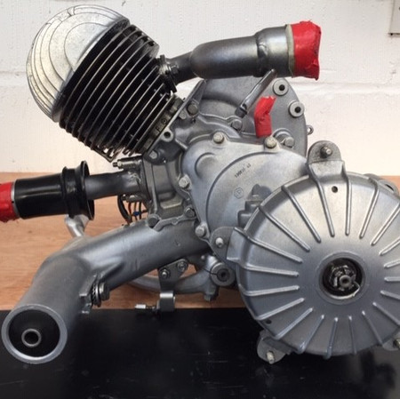 Vespa engine after Vapour Blast process