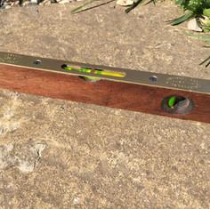 Hardwood brass spirit level aqua blasted