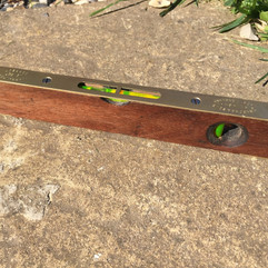 Hardwood brass spirit level aqua blasted