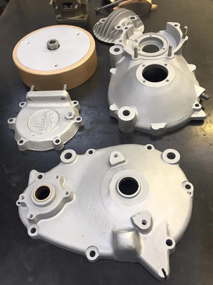Villiers Junior engine aqua blasted clean