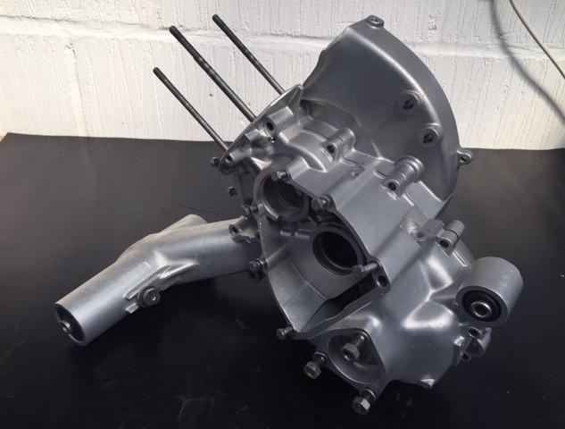 Vespa engine cases Aqua Blasted