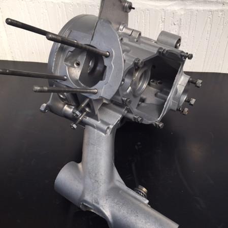 Vespa engine cases Vapour Blasted