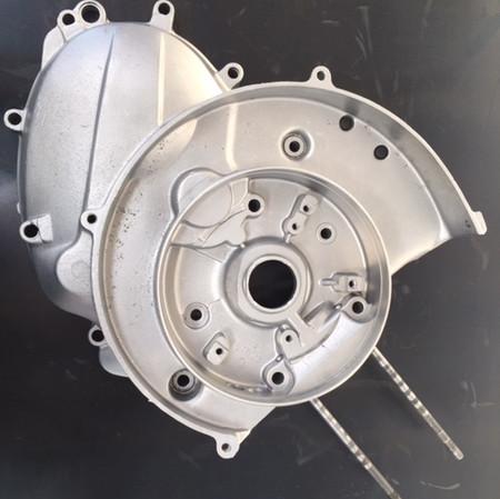Flywheel side crank case Vespa Smallframe Scooter Vapour Blasted