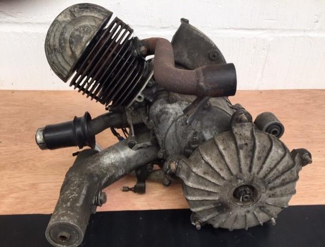 Vespa engine before Vapour Blasting