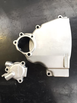 Kawasaki GPX 1000 engine case covers vapour blasted
