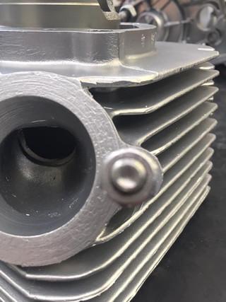 Vapour blasted Jawa 350 twin engine