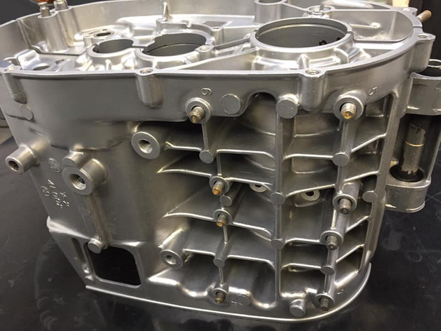 Yamaha RD350LC engine Vapour Blasted
