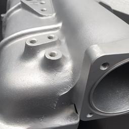Cosworth Inlet plenum vapour blasted