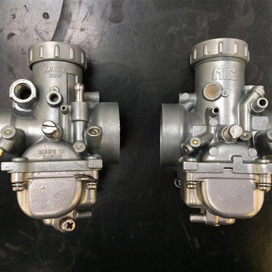 Pair of Mikuni carbs stripped, Vapour blast and Ultrasonic cleaned