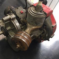 Vintage horticultural 2 stroke engine before Vapour Blasting