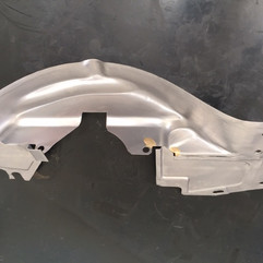 Air cooled VW crank pulley shroud - Aqua Blasted