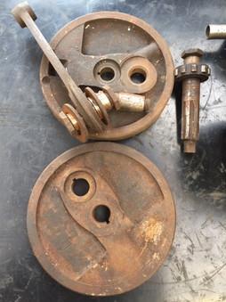 1950s Ariel 500 rod and crank needing blasting