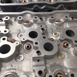 Lancia cylinder heads vapour blasted