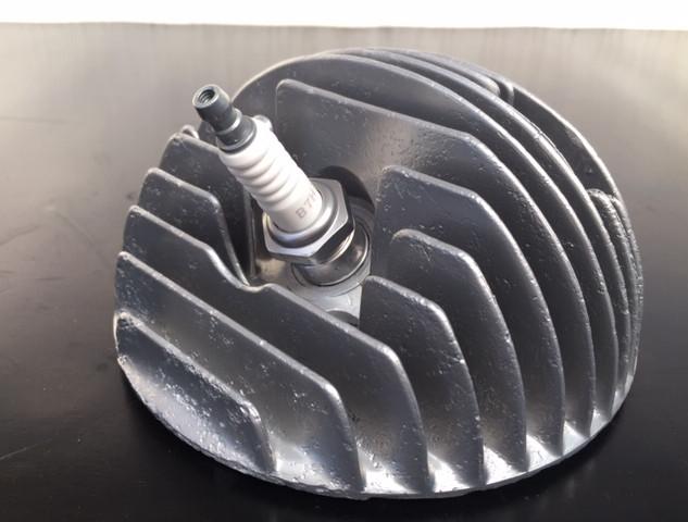 Vespa Scooter Cylinder Head Vapour Blasted