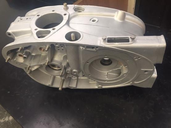 Royal Enfield 250 Crusader crank case Vapour Blasted