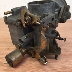 Aircooled VW Beetle/Camper Carb before vapour blasting and Ultrasonic Cleaning