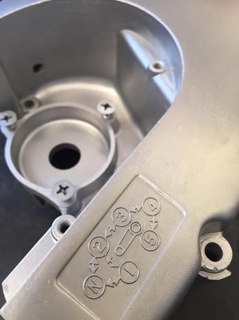 Suzuki GS750 restoration aqua blasted