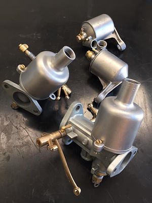 Pair of SU Carburettors Vapour Blast cleaned