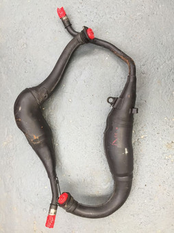 Pre-blasted Suzuki RGV 250 exhaust pipes