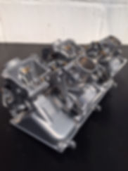 Honda VFR carburettors Vapour Blasted an