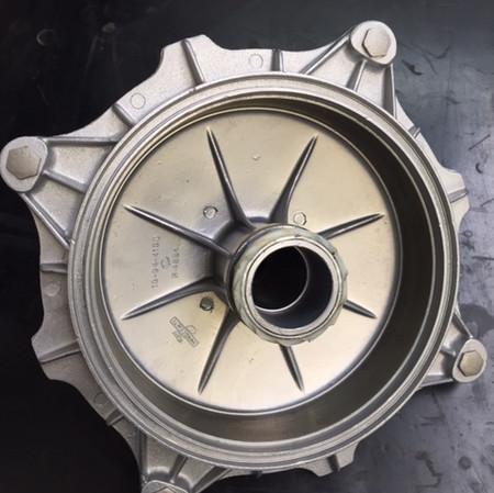 Lambretta front hub aqua blasted
