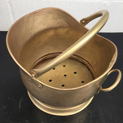Antique brass scuttle after aqua blasting