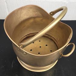 Antique brass scuttle after aqua blasting