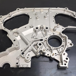 V6 Nissan engine components aqua blasted
