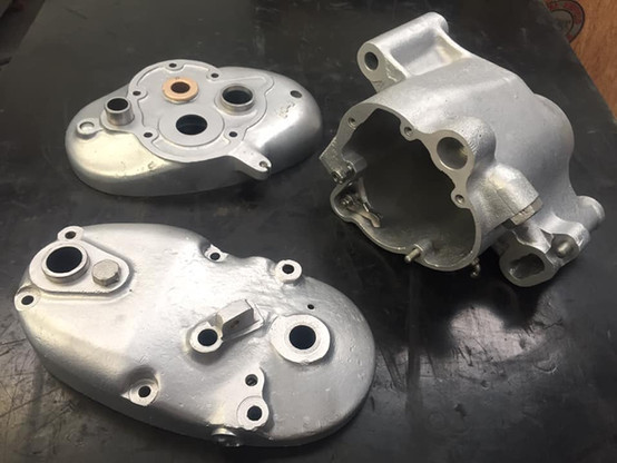 1936 Ariel gearbox casings look stunning for 85 years old parts after Vapour blasting