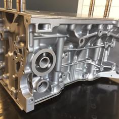 Honda K series race engine block vapour blasted