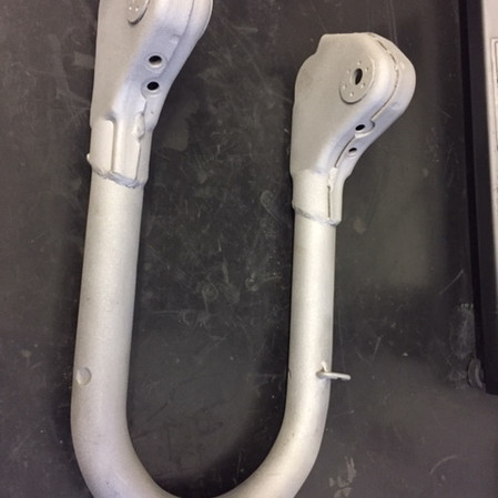 Lambretta forks blasted ready to paint