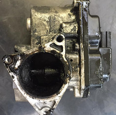 Audi TT EGR valve with heavy carbon build up