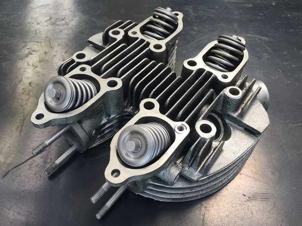 Triumph twin cylinder head vapour blasted