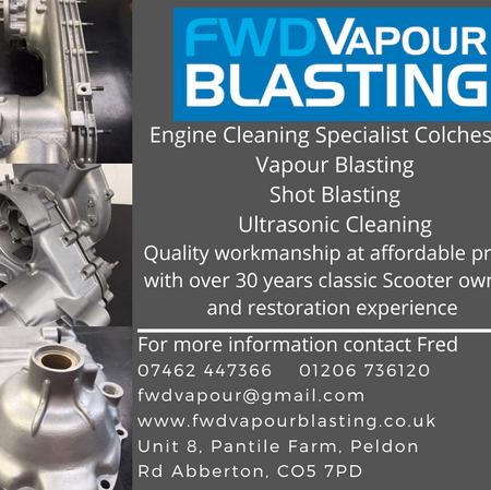 FWD Vapour Blasting Scooter restoration services
