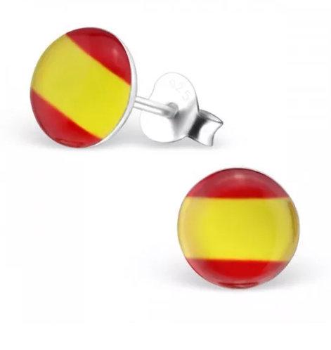 Rounded Spanish Flag Ear Stud