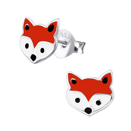 Foxes Sterling Silver Ear Studs
