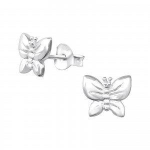 Butterfly Sterling Sliver ear studs
