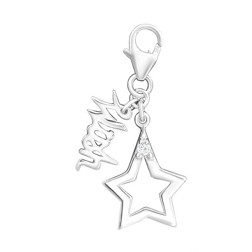 Wish  Upon a Star Sterling Silver Lobster Charm