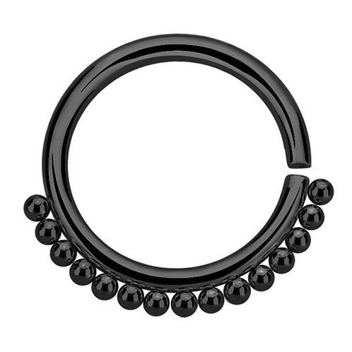 Black Steel Tribal Twist Ring