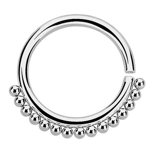 Steel Tribal Twist Ring