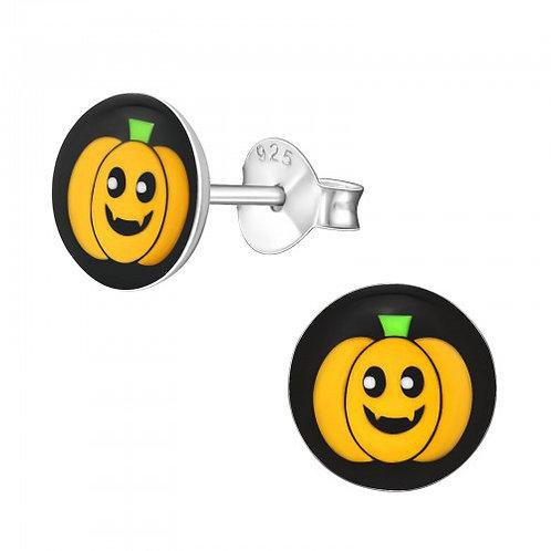 Pumpkin Sterling Sliver Ear Studs